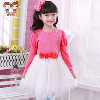 Baby children's clothing female child long-sleeve dress autumn child princess dress gentlewomen dress