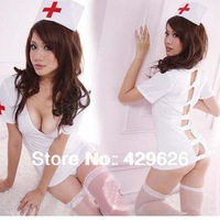 2014 New  fashion  hot sexy exotic backless nurse uniforms temptation, nurse costumes 77