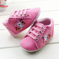 new 2013 3pairs/batch Free Shipping Girls Shoes for Infant First Walker with Animal Print and Lace-up Bebe Shoes+top quality