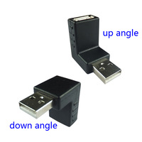 2 sets / 2-piece set  one up+ one down 90 degree right angle usb converter adapter connector usb a male to a female