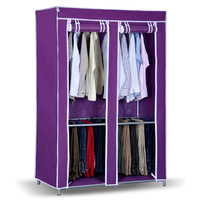 Free shipping Folding cloth wardrobe sol Large steelframe combination of simple wardrobe cloth wardrobe