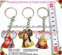 popular amber keychain,religious keyring,promotional keyring