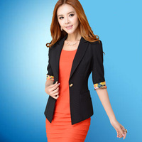 Autumn new arrival women's slim all-match blazer plus size fashion blazer short jacket d91