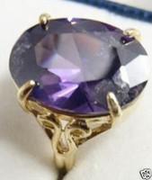 PurpleCrystalGemstoneRing Size7 8 9