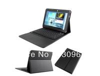 Dropship Bluetooth Keyboard Leather Case For Samsung Galaxy Tab 10.1 GT P7500 P7510 P5100 P5110 +Retail Box Free Ship