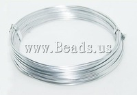 Free shipping!!!Aluminum Wire,2013 Fashion, silver, 2mm, Length:12 m, 20PCs/Lot, Sold By Lot