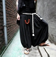 Harem pants harem pants male middlelowlevel loose linen pants novelty trousers bloomers