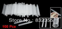 "100 Pcs Clear White Plastic Rounded U-shaped Bottom 4.1"" Long Test Tube 8ml"
