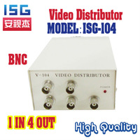 1 Input 4 Output video distribution  CCTV Monitor Splitter free  shipping