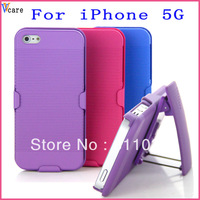 Mix colors,FREE SHIPPING via DHL,wallet style leather case  with stand for iPhone 5 ,50pcs/lots,bulk price
