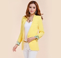 Retail 2013 New Autumn Korean women's Fashion Candy colors Slim Lapel small Suit,5 Color,S-M-L,Free Shipping!