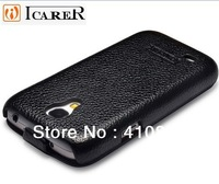 Icarer Classic Design Flip Leather Case For Samsung Galaxy S4 mini / S IV mini i9190, With Gift Box, Freeshipping!