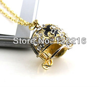 free shipping 5pcs a lot  promotional hot sale New Orleans Saints with crystal pendant necklace fashion jewelry