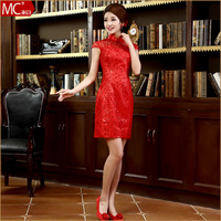 2013 cheongsam improved cheongsam chinese style the bride married cheongsam design short formal dress vintage cheongsam