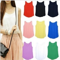 Hot Sale New Women Colorful Chiffon blouse shirt lady Batwing plus Loose size short sleeve shirt Blouse Tops 10style