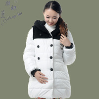 Maternity thermal wadded jacket cotton-padded jacket outerwear maternity clothing overcoat autumn and winter down wadded jacket