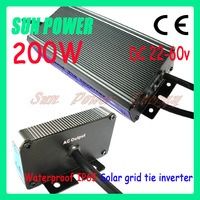 Free Shipping 200W 110V /220v waterproof solar power inverter,Production factory price ,Small volume, convenient installation