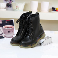 2013 male boots ankle boots lovers boots martin boots thick heel cow muscle outsole round toe shoes female