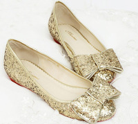 2013 comfortable Formal Dress Shoe Glitter Ballet Flats Bridal Shoes bridesmaid shoes Hot Wedding Prom Shoes