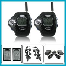 10PIR/LOT Travel Wrist Watch Backlit Pair Two Way Radio Intercom Digital Mobile Walkie Talkie,Dual Band Interphone Transceiver