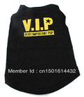 Free shipping  VIP Style Cotton Dog Shirt (XS-L, Black),Dog Clothes,Dog Shirt,Dog dress,(China (Mainland))