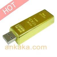 Gold Bar USB Flash Drive (16 GB) - Light Weight & Compact