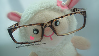 Coffee leopard print computer plain mirror glasses frame lovers design male Women 2