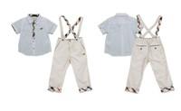 retails, hot sale, promotion summer style kids boy 2pcs suit white boys shirt + pants kids clothing set children sets for boys