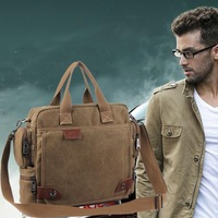 Men's casual business bag canvas hand shoulder bag diagonal multi-function package