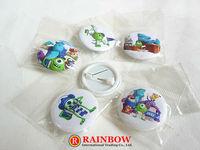 Free Shipping!Wholesale !New Arrival! 3cm 48pcs/lot monster pin badge ,Sullivan badge button, Mike Wazowski kids gift