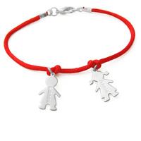 boy and girl love sterling silver name bracelet