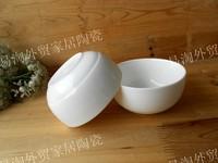 Ceramic dinnerware bowl set fashion bowl white enamel