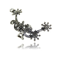 European And American Fashion Earring Cuff Excellent Quality Strand Flower And Leaf Cuff Earrings Women Popular Ear Cuff YE278