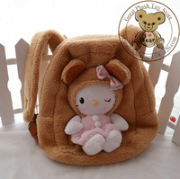Cute Biscuit Hello Kitty plush backpack biscuit kitty backpack for plush school bag best Christmas gift
