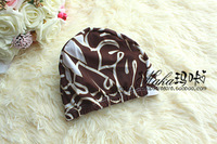 Elastic comfortable coffee fashion swimming cap