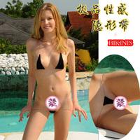 European product Fashion 100% cotton invisible belt sexy bikini set  free shipping