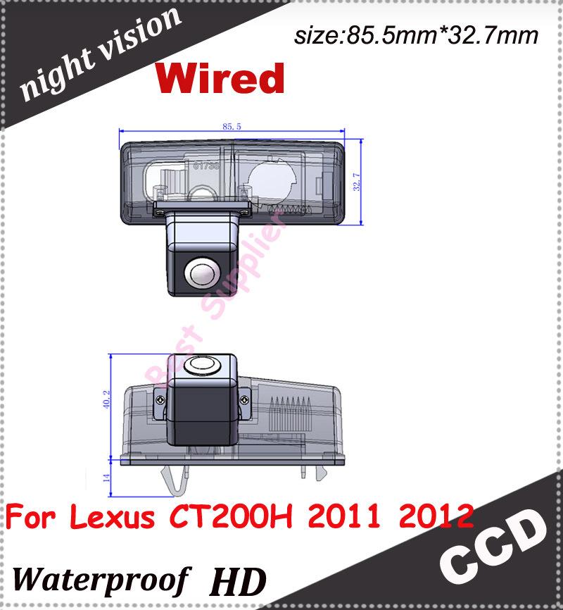 CCD Nigh view high quality rear back camera car backup camera for Lexus CT200H 2011 2012 Reverse Camera 170 degree(China (Mainland))