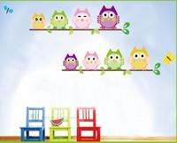 A+B 2pcs.  Room Decoration Cute Owl Tree Peel & Stick Wall Decal Kindergarten,135*58cm,25cm*70cm*2pcs,Free shipping
