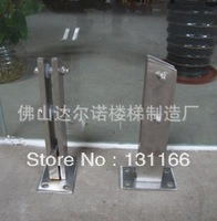 Stair handrail fittings / stainless steel fittings / floor glass clamp
