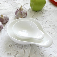 Hety . puddles sauce plate weidie caidie small ceramic white brief fashion with handle dish