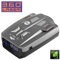 360 Degrees Laser Full-Band Scanning Advanced Radar Detectors Laser Defense Systems and GPS Location,Built-in Russia Language