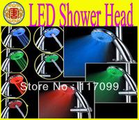 LED Shower head RGB Adjustable Color changing ,Temperature Sensor Shower 3 Mode A21