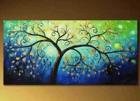 N.096 Modern Abstract On Canvas Art Oil Painting tree (no Framed)