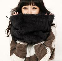 Promotion! Scarf Large Faux Fur Collar Quality Scarf Muffler Collars Ring Multicolor Fashion Fur Collars Women