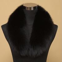 90cm*16cm Quality Faux Fox Fur Collar Scarf Furs Collar Overcoat Ring Down Coat Collars Women Men Unisex Free Shipping