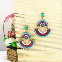 Latest Vintage Statement Earrings of Bohemia Style Women Big Jewelry Free Shipping Nickel Free 1102960