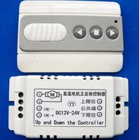 DC12-24V electric curtain projection screen remote control motor reversible control limit switch manual function