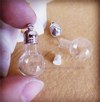 Free ship! 50pcss/lot ball glass vial pendant , glass ball pendant , glass bottle GB0022