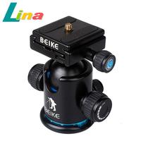 BK-03 Pro Camera Tripod Ball Head Quick Release Plate With Gradienter