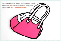 3d cartoons bag fashion jump hand bag top bag from new arrivel 2014 paper Hot three color promotion